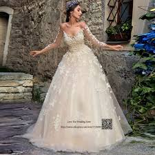 retro wedding dresses chagne vintage wedding dress lace flowers crystals sleeve
