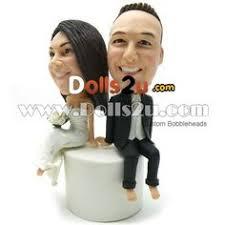 cake toppers bobblehead custom wedding cake topper stunning custom bobblehead wedding cake