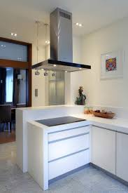 interior modern home architecture plans for chic white kitchen of