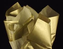 gift tissue paper 24 sheets heavy gold metallic glossy gift tissue paper 20 x