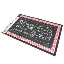 tapis cuisine noir de cuisine bistrot noir 70x45 cm