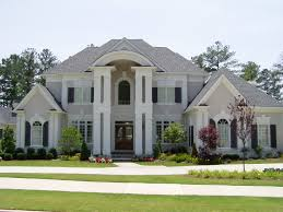 Grey House Colors Light Grey Stucco Navy Trim Our Dream House Pinterest