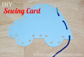 whatever dee dee wants she u0027s gonna get it diy kids sewing card