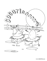 Crazy Cow Cock And Hen Coloring Page Animal Pages Farm 102 Farm Color Page