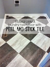 Cheap Tiles For Kitchen Floor - transform a laundry room floor with peel and stick tiles