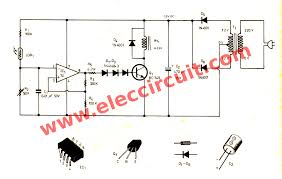 component op amp ic projects automatic night light circuit using