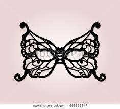 laser cut masquerade masks masquerade mask laser cut details venetian stock vector 665595847