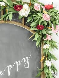floral garland birthday paper flower banner pocketful of posies