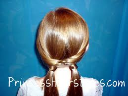 fishtail braid woven pigtails hairstyles for girls princess