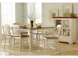 High Dining Room Tables And Chairs by Amazon Com Homelegance Ohana Counter Height Table In White
