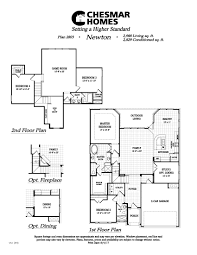 floor plans for homes two story the newton plan