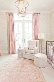 Pink Peonies Bedroom - curtains beige and pink curtains decorating baby nursery accent