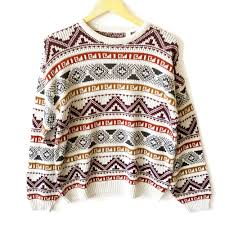 tribal sweater vintage 80s s tribal aztec ski sweater the sweater