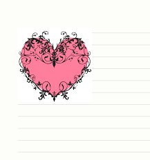 free printable heart stationary stationery