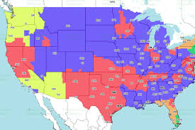 Tv Reception Map 49ers Cowboys Tv Schedule Broadcast Maps In The Us International