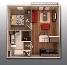 appartement 1 chambre 50 plans en 3d d appartement avec 1 chambres bedroom apartment