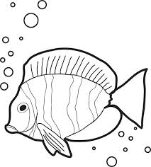 free printable fish air bubbles coloring kids