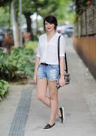 Conhecido Look do dia: Camisa branca e short jeans - Just Lia | Por Lia Camargo @RJ93