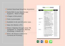 daily checklist template u2013 22 free word excel pdf documents