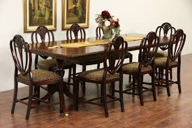 Vintage Dining Room Furniture by Sold Banded Mahogany Vintage Double Pedestal Dining Table