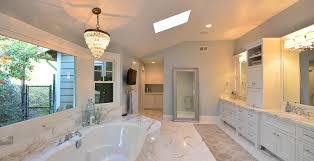 White Waterfall Countertop With Glasbr Stung Dining Room Modern - Bathroom design san francisco