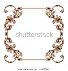 vintage border frame engraving retro ornament stock vector
