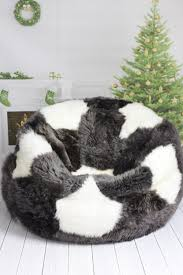 Big Bean Bag Chair by Furniture U0026 Rug Sheepskin Beanbag Giant Beanbag Chair Long