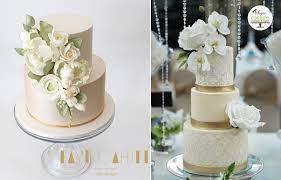 wedding cake gold pale gold chagne wedding cakes cake magazine