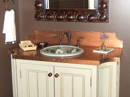 Copper Bathroom Vanity by Copper Countertops Kitchen U0026 Bath Circle City Copperworks