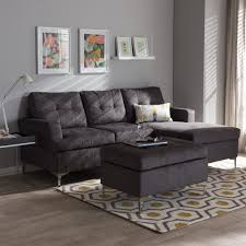 Dobson Sectional Sofa Furniture Baxton Studio Sectional For Mid Century Modern