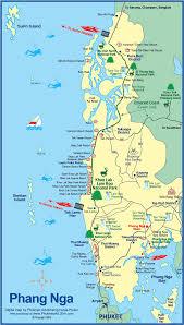La Beaches Map Carte De La Ville Et De La Province De Phang Nga Situées Dans Le