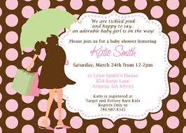 pink and brown baby shower invitations cimvitation