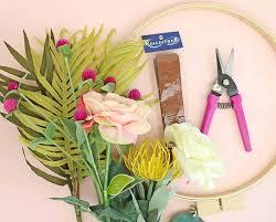 wreath supplies make your own diy modern wreath lou
