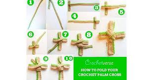 palm sunday crosses free crochet palm cross pattern praise him
