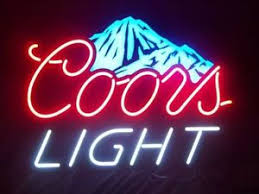 vintage coors light neon sign new coors light beer neon sign 17 x14 ship from usa ebay