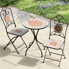 Balcony Bistro Set Patio Furniture Mosaic Table And Chairs Bq Homebase Garden Chair Sets Bistro Set