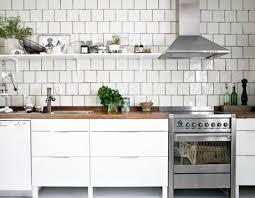 White Tiled Kitchen With Dark Grout White Kitchen HOME DECOR - Square tile backsplash