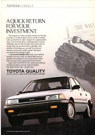 toyota arabalar 1989 toyota corolla le ad from national geographic march 1989