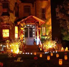 Lighted Halloween Decorations by Outdoor Scary Halloween Decorations Lighted Pathway Easyday