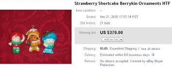 ebay selling coach collectible strawberry shortcake ornaments