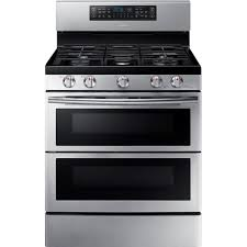 Ge Gas Cooktop Reviews Samsung 30 In 5 8 Cu Ft Double Oven Gas Range With Self