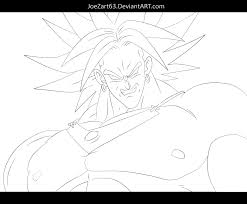 11 images of broly super saiyan coloring pages dragon ball z