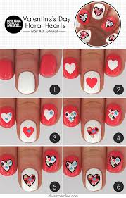 15 step by step valentine u0027s day nail art tutorials for beginners