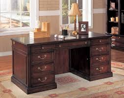 Home Office Desks Traditional Brown Wood Office Table Desks Furniture Design
