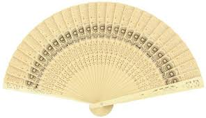 8 sunflower sandalwood folding fans w organza bag for