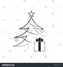 christmas tree icon black and white cheminee website