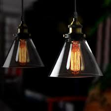 Amber Glass Pendant Lights by Winsoon Vintage Industrial Ceiling Lamp Clear Glass Pendant For