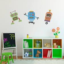 robot decals stephen edward graphics cute robots wall decal