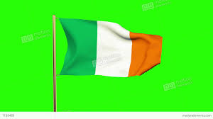 Flag Yellow Sun Ireland Flag Waving In The Wind Looping Sun Rises Style