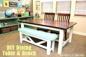 dining table farmhouse dining table bench set with furniture
